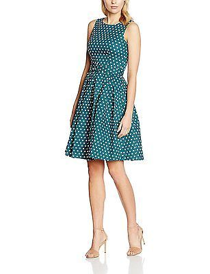 UK 10.5, Blau (peacock Blue Ar), Dolly and Dotty Women's Lola Casual Clothes NEW