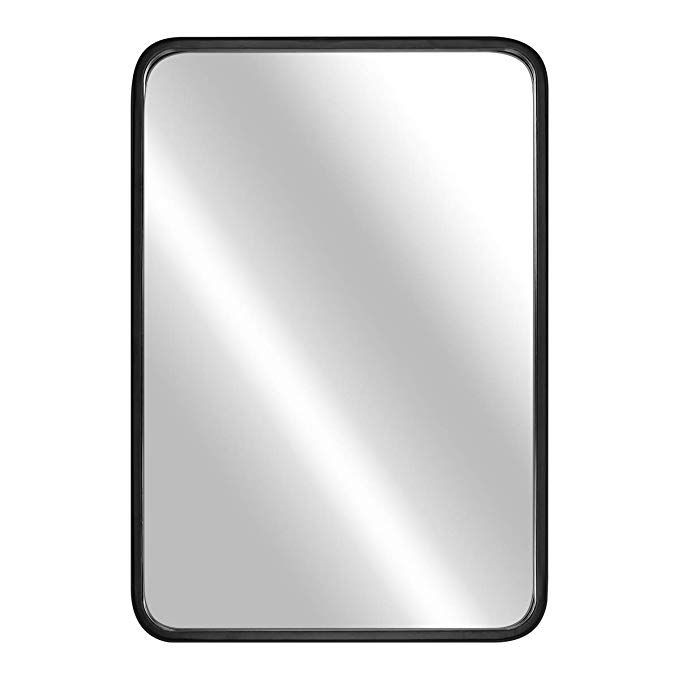 Leoriso 24a X 16wall Mirror Large Bathroom Mirror 1 4a Black Metal Rectangular Fra Large Bathroom Mirrors Wall Mounted Mirror Rectangular Bathroom Mirror