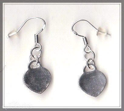 Heart Charm Sterling Silver 925 Hook Earrings  by MadAboutIncense - $10.50
