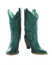 yeşil zımbalı kovboy çizmesi sk15170