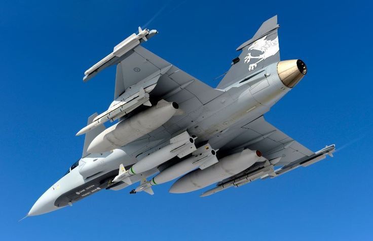 Royal Swedish Air Force Saab JAS39 Gripen fighter carrying Meteor BVRAAM (Beyond Visual-Range Air-to-Air Missile). After a series of tests the Swedes have now declared the missile operational on C and D model Gripens. The missile has also undergone tests on the Eurofighter Typhoon II for probable use by Royal Air Force, Italian and German air forces.
