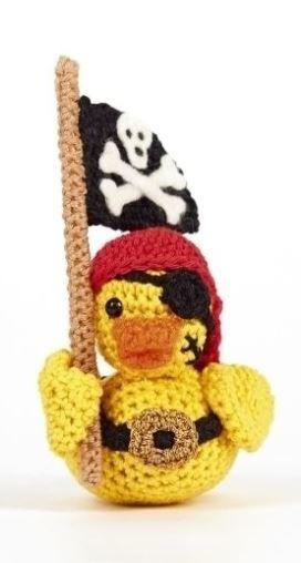 Quietschenentchen Im Piraten Look Zum Selberhäkeln Häkelanleitung