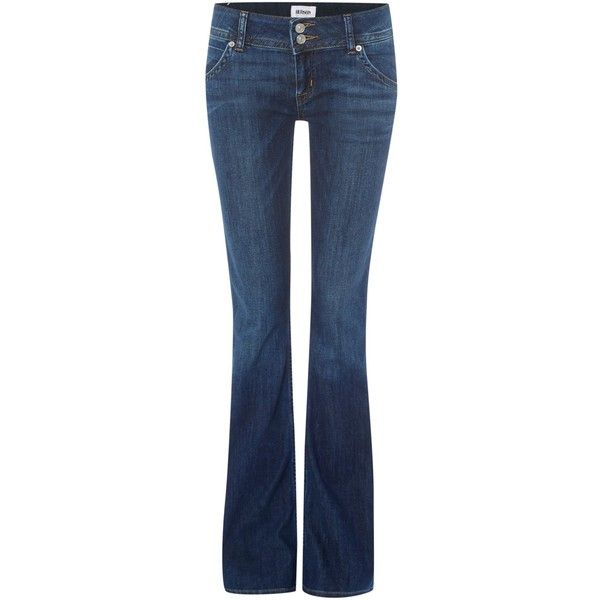 Hudson Jeans Signature bootcut jean in enlightened ($335) ❤ liked on Polyvore featuring jeans, denim mid wash, women, hudson jeans, stretch jeans, super stretch jeans, fitted jeans und mid-rise jeans