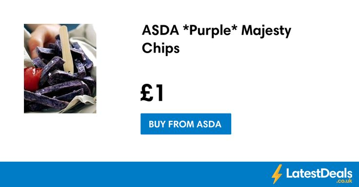ASDA *Purple* Majesty Oven Chips, £1