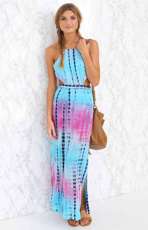 Ancillary Maxi Dress Tie Dye   Beginning Boutique
