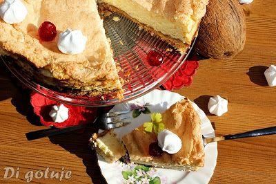Di gotuje: Sernik mocno kokosowy z dżemem