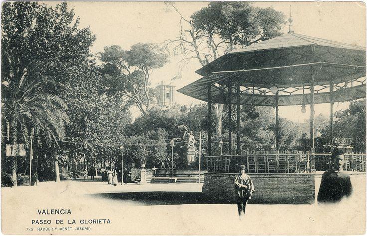 Parque de la Glorieta,  Valencia. Alrededor de 1900