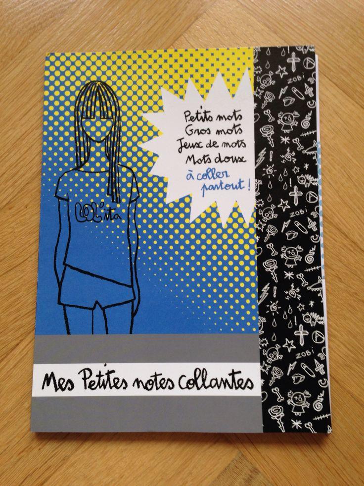 """Cahier """"mes petites notes autocollantes"""" avec des post-it"""