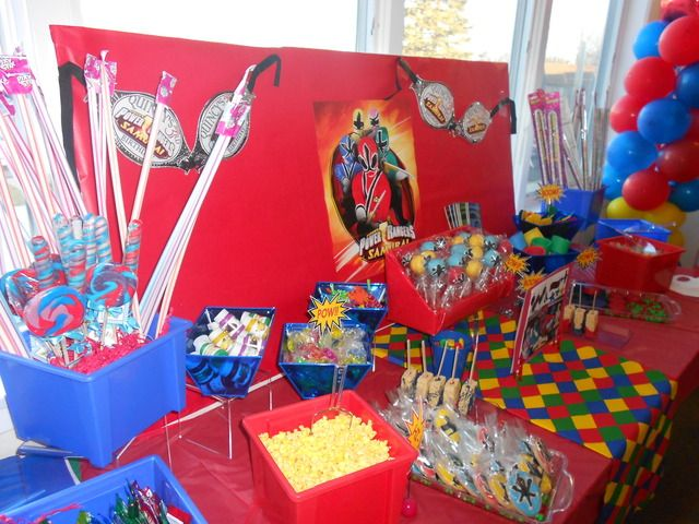 Power Rangers Candy & Party Favor Bar