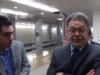 VIDEO: Franken Slams Into Staffer While Dodging Reporter's IRS Question.  Hahaha, get used to it!