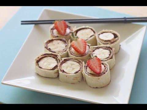 How to make Nutella and banana sushi - Kidspot