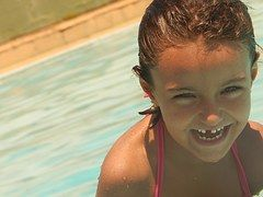 Pool, Smile, Happiness, Hair, Happy Face