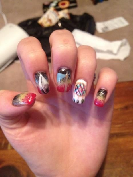 native american nails | NAILPRO - 100 Best Native American Nails Images On Pinterest Nail Art