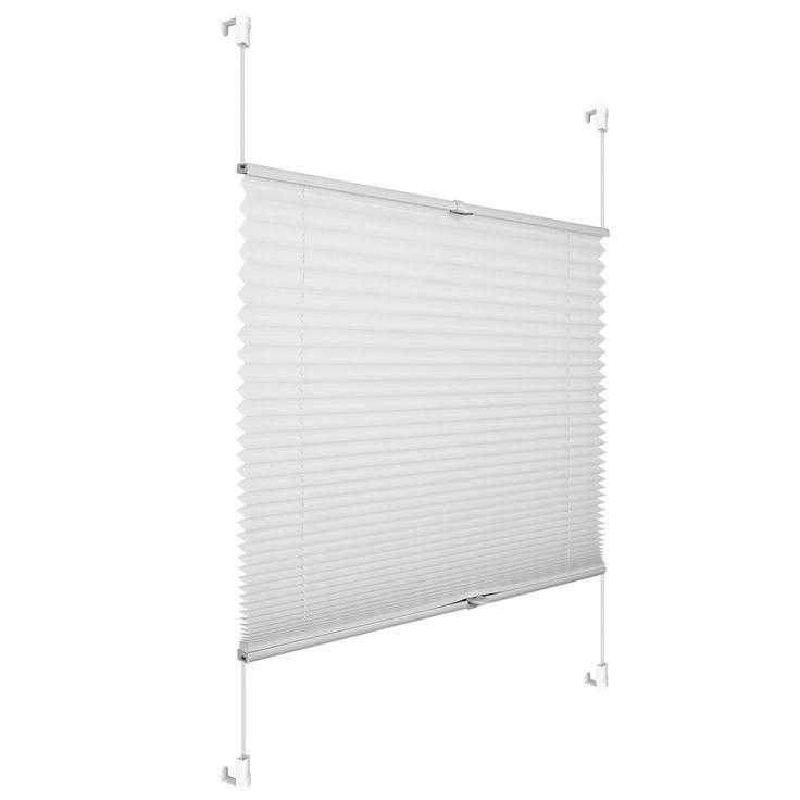 Cortina Estor plisado fijar al marco de la ventana blanco 100 x 130 cm perfil superior e inferior movible Plissé poliéste: Amazon.es: Hogar     TODAS LAS MEDIDAS