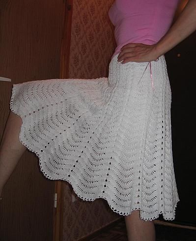 White Skirt free crochet graph pattern inspiration see increases and method for raglan eyelet seems