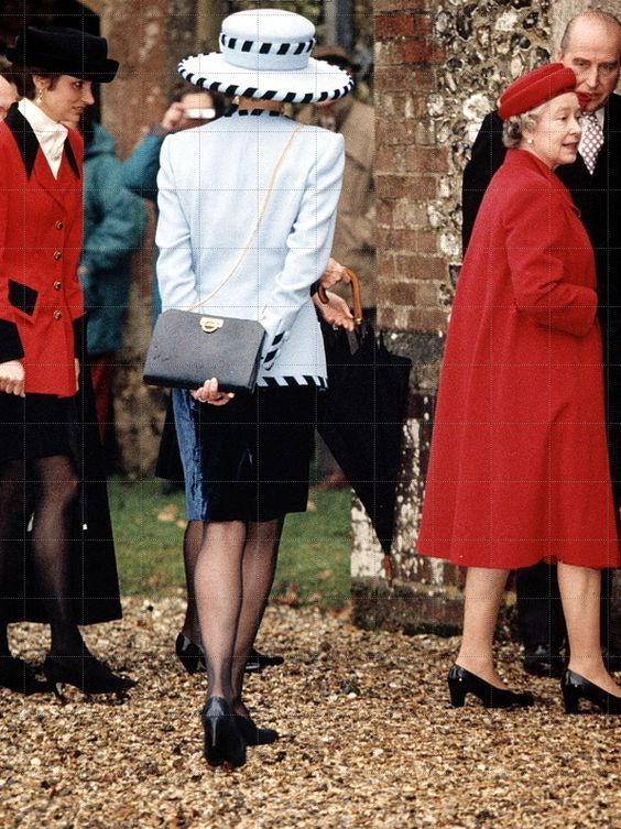 December 19 1992 The Queen and Diana with guests at
