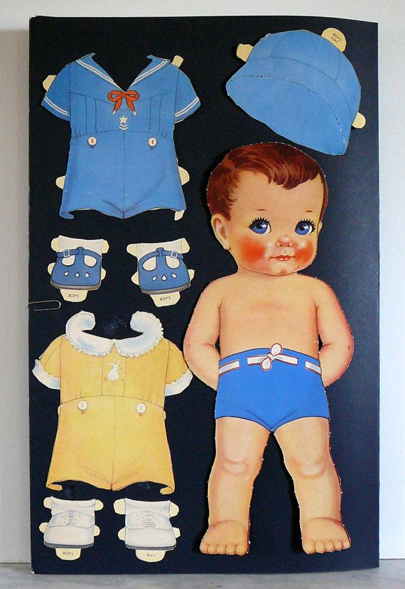 1938 Vintage Antique Whitman Big Paper Doll 951 by EvelynnsAlcove