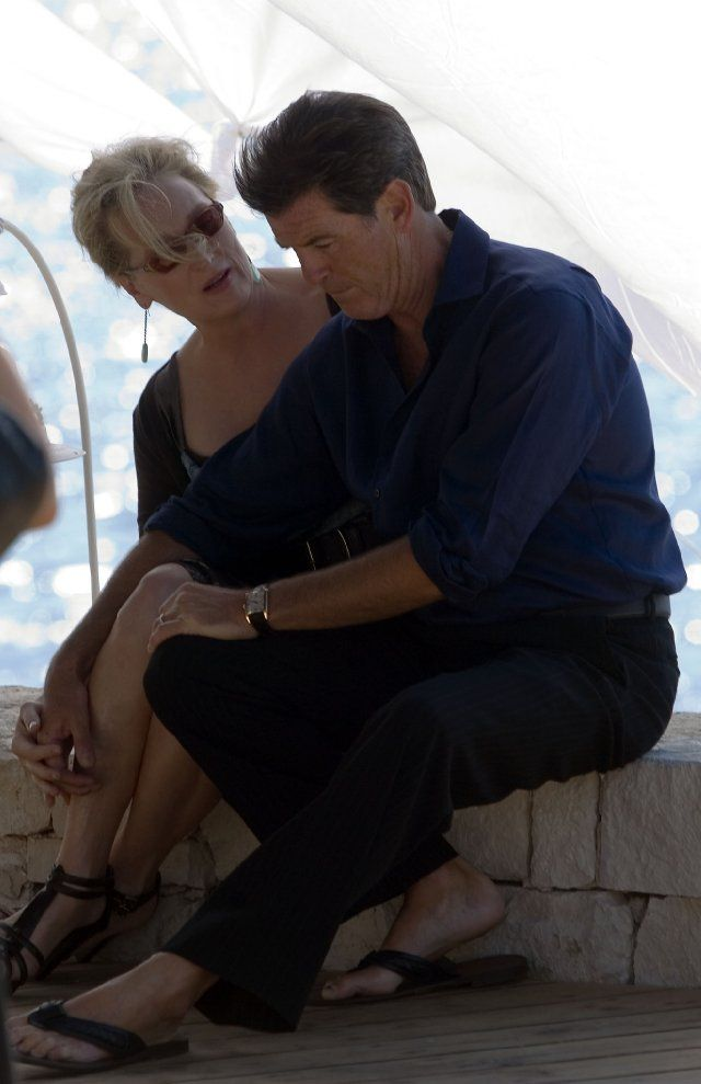 Pierce Brosnan and Meryl Streep at a Mamma Mia event!