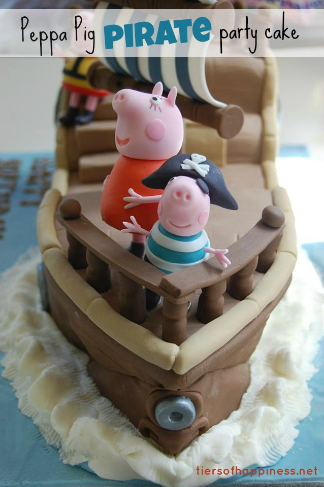 peppa pig pirate party cake