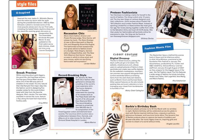 2 Page Magazine Layout | ... The Emerald Closet. Chose all items & designed layout. December 2010