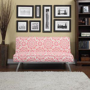 Gage Medallion Click Clack Futon Sofa Bed, Multiple Colors Part 94