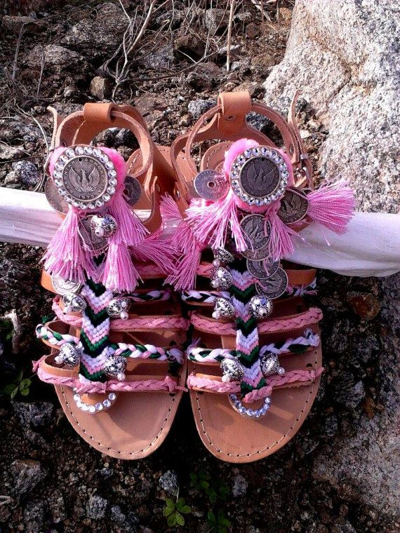 Free shippingBohemian greek leather sandals by boutiqueofsandals