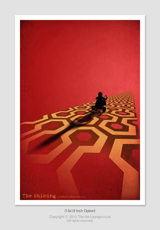 Horror Movie Poster, Minimalist Movie Poster, Cult Movie Poster, Classic Movie Poster, Retro Movie Poster, Horror Art, Stanley Kubrick, A4 by TheArtLoungeUK on Etsy https://www.etsy.com/listing/127576473/horror-movie-poster-minimalist-movie