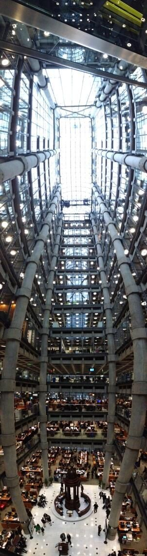 Inside the London Gherkin - amazing building! #London #Architecture