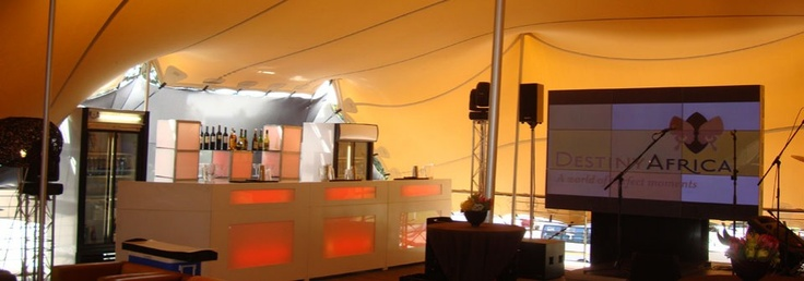 A tent at a corporate event
