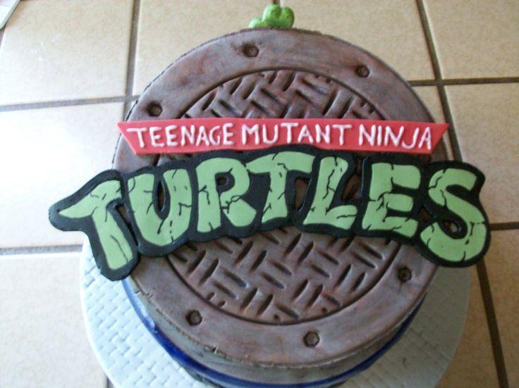 ninja turtle sewer lid cake topper
