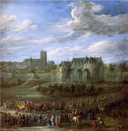 David Teniers the Younger (Flemish, 1610-1690) Arrival of Christina of Sweden in Brussels