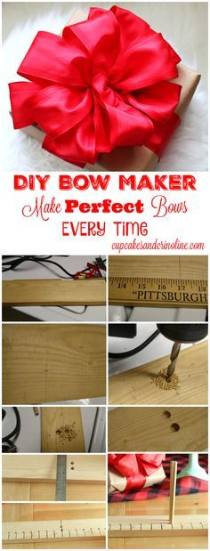 DIY Bow Maker - Make Perfect Bows Every Time from cupcakesandcrinoline.com