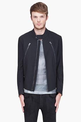 Maison Martin Margiela Black Matte Leather Jacket for Men   SSENSE