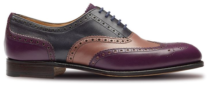Isabella Carla, zapatos oxford morados para mujer de Clarks fabricados en Inglaterra.