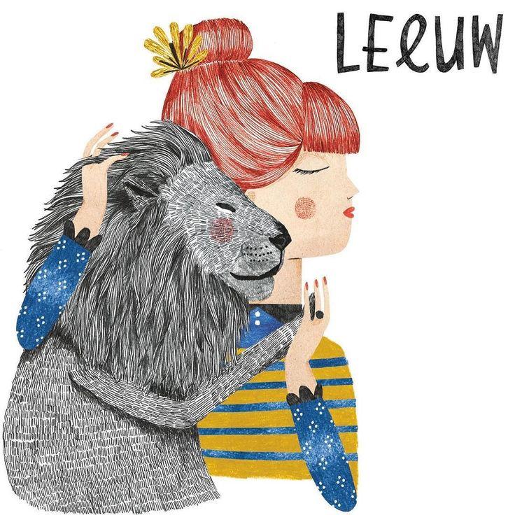Leeuw 23 juli - 23 aug | De energieke Leeuw heeft een groot hart en is een trotse beschermende en hartelijke moeder die soms een tikje overbezorgd en dominant kan zijn. Ze heeft hoge verwachtingen van haar kinderen en stimuleert ze als geen ander.  Tekst Nicole Boshouwer | Illustratie Lobke van Aar @lobkevanaar  #kekmamamagazine #kekmama #horoscoop #astrologie #leeuw #kekmama8