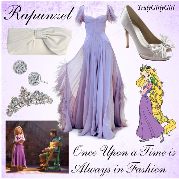 Vestido de gala moda Disney Rapunzel