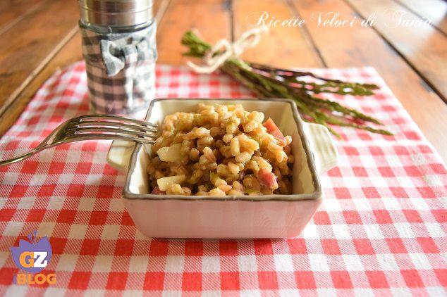 Il farro risottato è un'alternativa gustosa e salutare per chi ama benessere e bontà a tavola... gli asparagi sono perfetti in questo periodo !