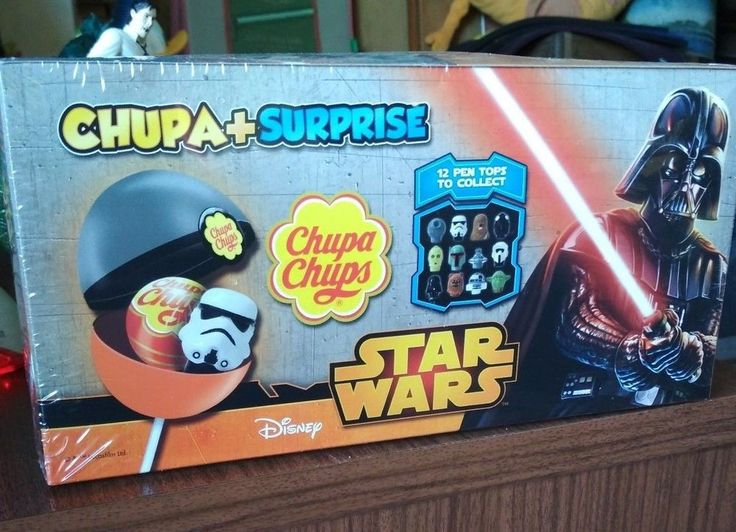 Chupa Chups Star Wars Disney Chupa+Surprise 12 Pen Tops to Collect 16 Units 2017