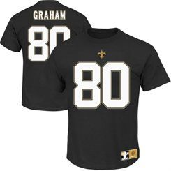 Mens Majestic Jimmy Graham Black New Orleans Saints Eligible Receiver II Name & Number T-Shirt