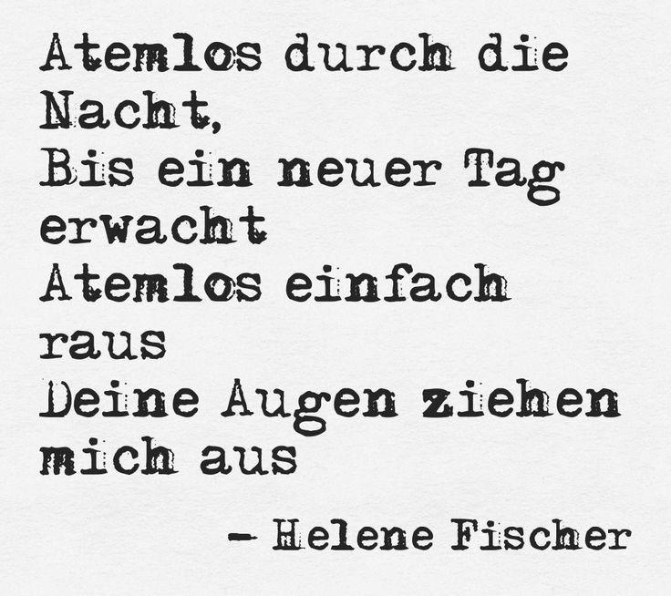 """""""Atemlos durch die Nacht"""" by German singer Helene Fischer"""