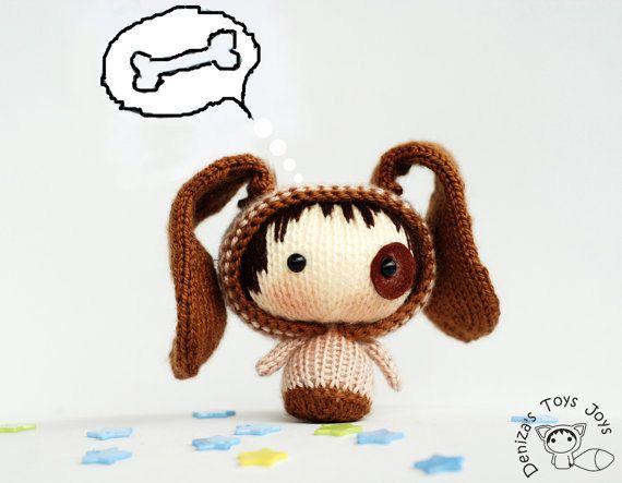 Small Dog Doll. Toy from the Tanoshi series. by DenzasToysJoys, $49.00