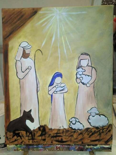 I Painted This At Sip And Strokes. Christmas JournalChristmas CanvasChristmas  PaintingsChristmas ArtChristmas ProjectsHoliday CraftsChristmas IdeasAngel  ...