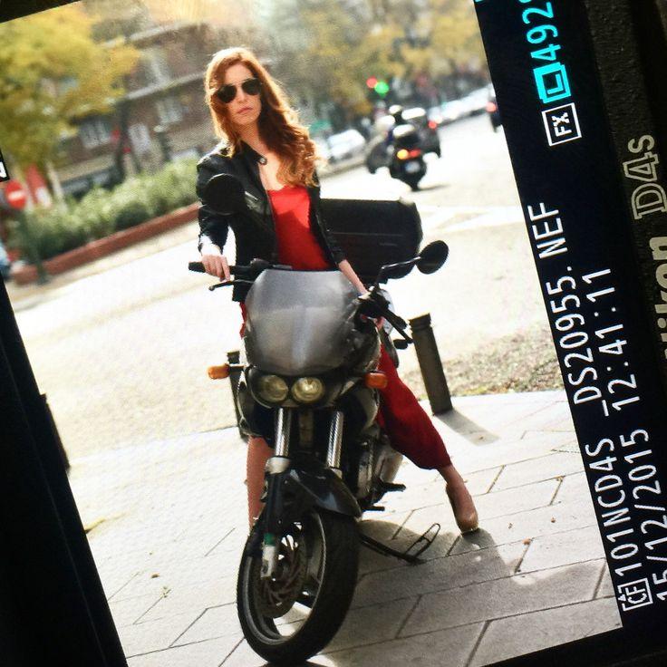 Shotting Day Thank's @anabel_jsantana and @tomascalle #Navdra #women #dress #style #fashion #fashionista #shottingday #girls #red #motorcycle #sexy #diferent #especial #like #party #photo #picoftheday #photographer #photoshoot #photoftheday #model