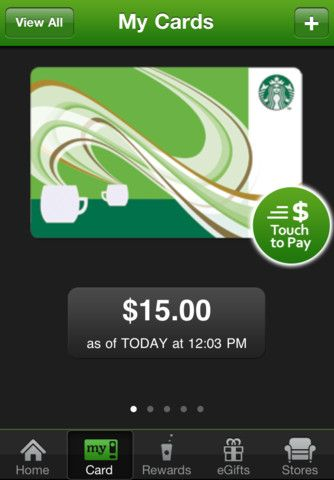 Starbucks. Get your caffeine fix! Add a Starbucks Card to Passbook.