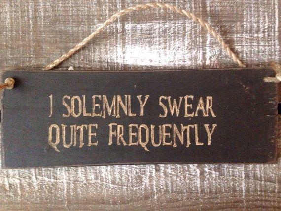 rustic sign. i solemnly swear. funny gift. by InspirationToArt