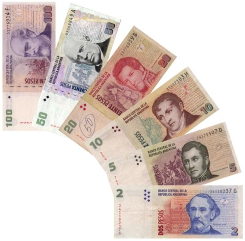 Currency- currency is the argentine peso. one US dollar equals seven argentine pesos