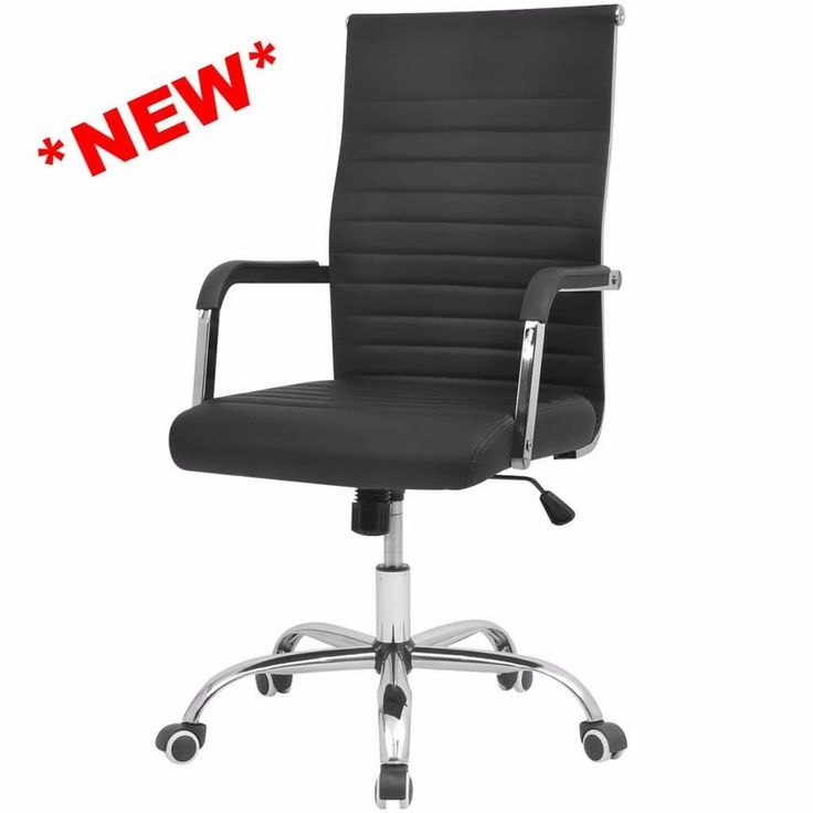 Luxury Leather Office Chair Back Support Comfort Office Seat Adjustable Black #LuxuryLeatherOfficeChair #Luxury