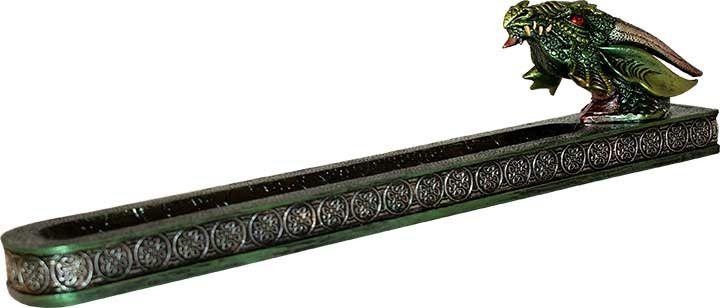 Green Dragon Incense Burner/Ash Holder