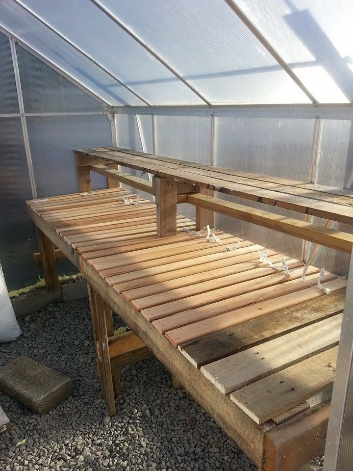My diy greenhouse shelf made from pallets and bunky boards.   Craft ~ Your ~ HomeCraft ~ Your ~ Home