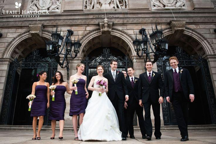 Wedding Party Outside The Boston Public Library Bostonpubliclibrary Purple